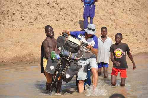 River crossing in Nigeria by From The Big Africa Cycle blog