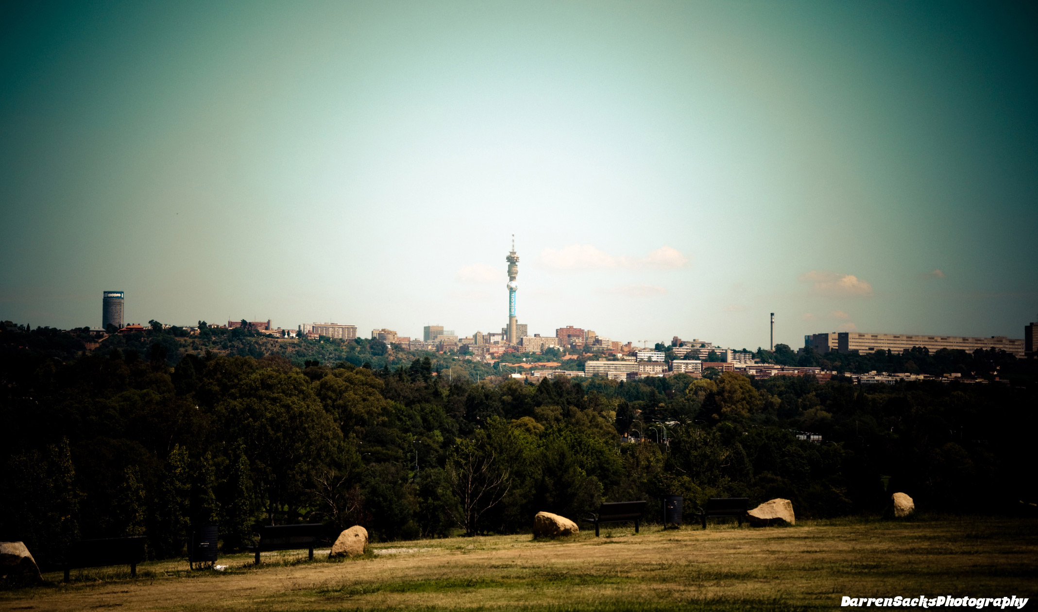 Johannesburg Skyline With Hillbrow Tower In The Centre By