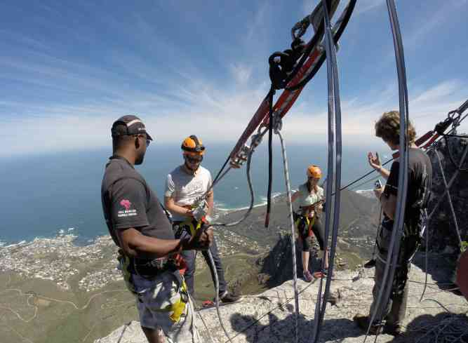 Abseil Top by African Budget Safaris