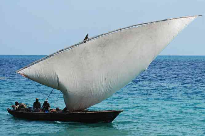 Traditional dhow by Harvey Barrison