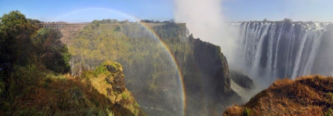 Victoria Falls rainbow by