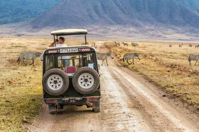Ngorongoro Crater, a world heritage site on Tanzania's Northern Circuit by