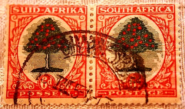 South africa stamp by