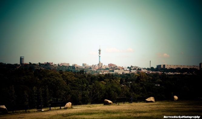 Johannesburg skyline with Hillbrow Tower in the centre by sacks08 on Flickr