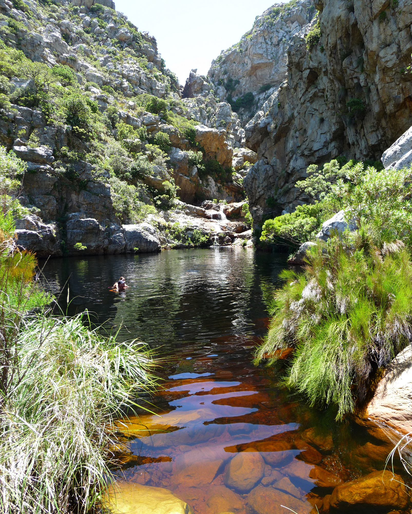 Where to go to avoid the crowds in summer in cape town - Crystal pools waterfall ...