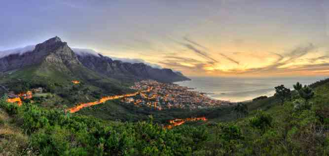 The Atlantic Seaboard from Lion's Head by