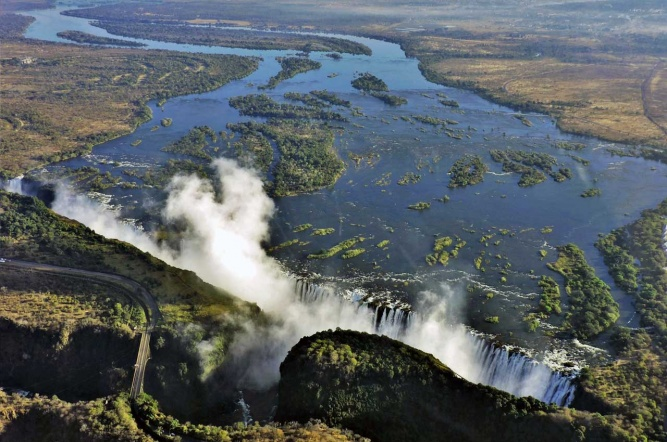 Aerial view of Victoria Falls by Mike