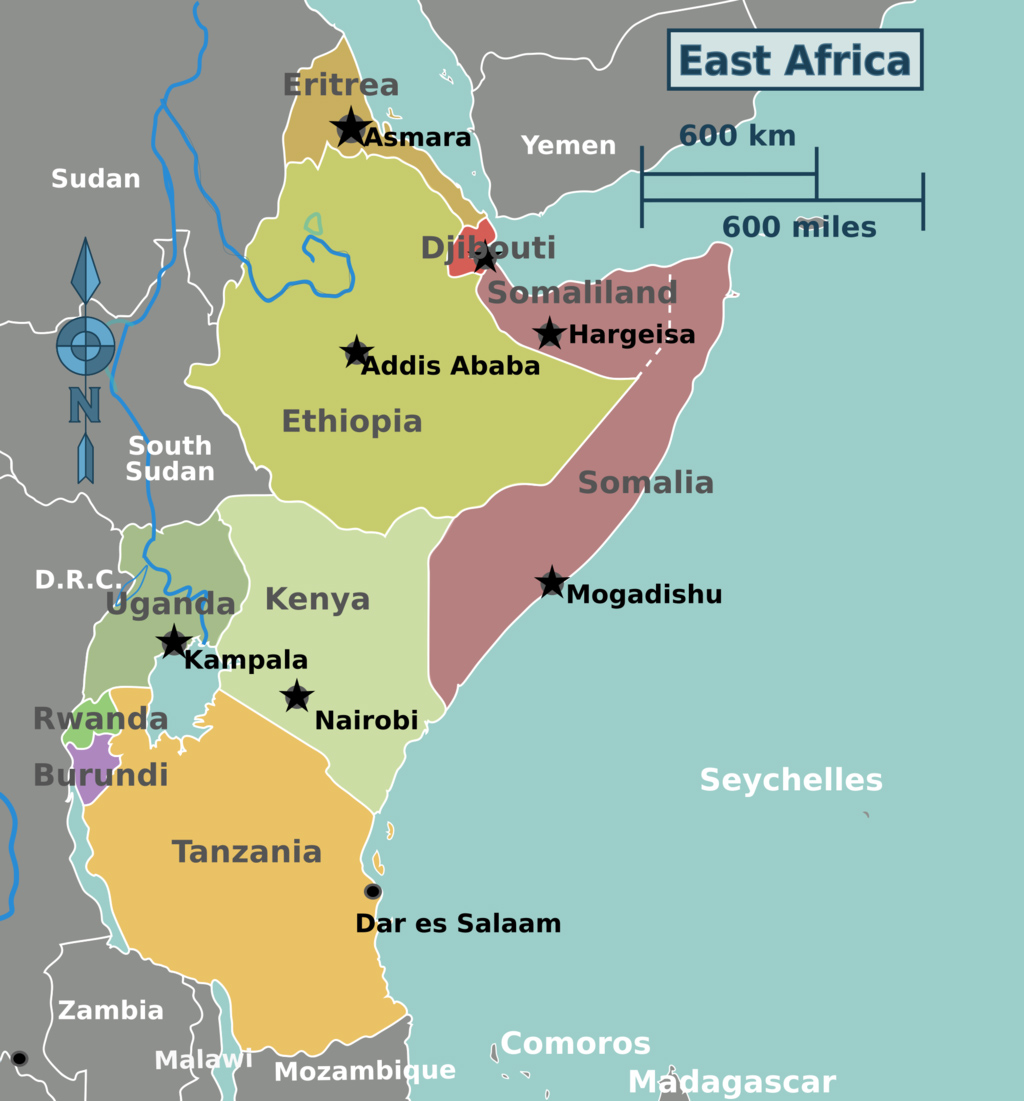 Map Of Africa Regions.East Africa Vs Southern Africa Safaris How To Choose Best
