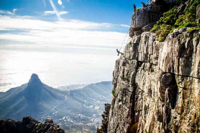 For Table Mountain Abseiling contact  by Abseil Africa